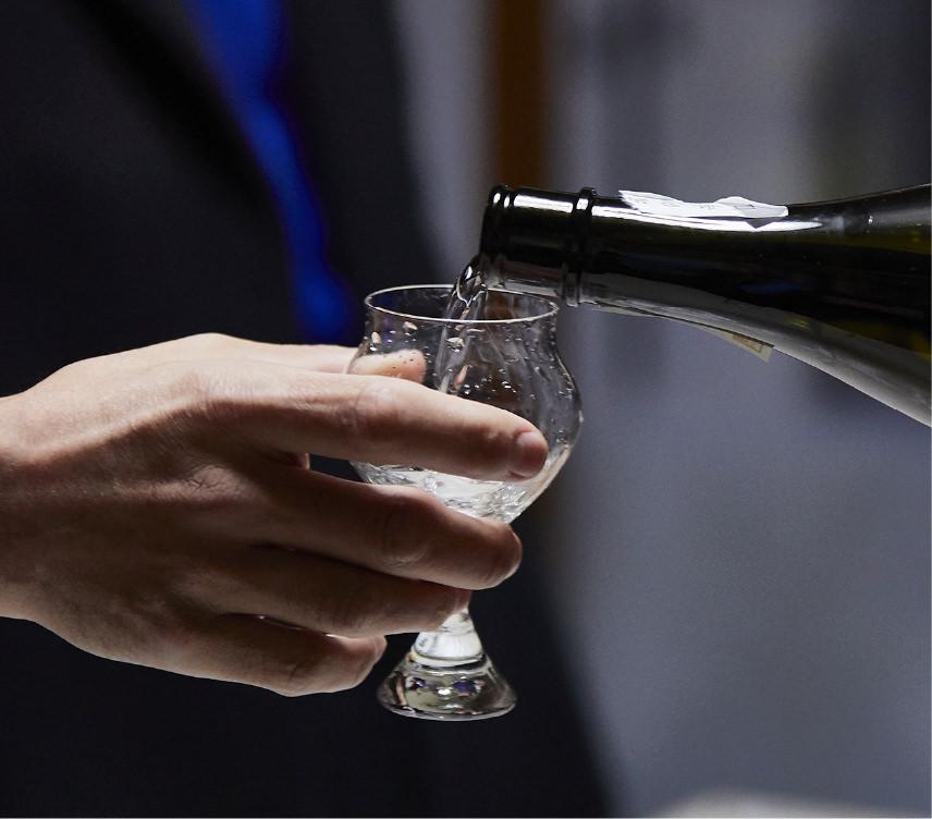 Japanese sake is made through multiple parallel fermentation.